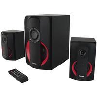 Hama PR-2180 2.1 PC-Lautsprecher Kabelgebunden 80W Schwarz, Rot