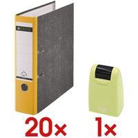 Leitz Leitz, 1080-50-15 Ordner A4, breit, Karton, gelb