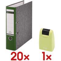 Leitz Leitz, 1080-50-55 Ordner A4, breit, Karton, grün