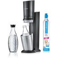 Sodastream Crystal 2.0 titan + 2 Glaskaraffen + Zylinder