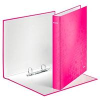 Leitz WOW Ringbuch 2-Ringe pink 4,0 cm DIN A4+