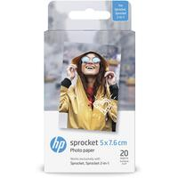 HP ZINK Sticky-Backed Fotopapier W4Z13A 5x7,6cm 20 Blatt