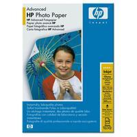 HP Advanced Glossy Photo Paper Fotopapier Schwarz, Blau, Weiß