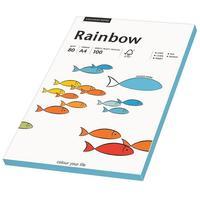Rainbow Farbpapier A4 80 g/m2 100 Blatt blau
