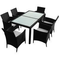 VidaXL Polyrattan Set 13-tlg. Tisch 150 x 90 cm