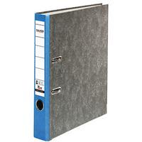 Falken Ordner A4 Rückenbreite: 50mm Blau Wolkenmarmor 2 Bügel