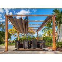 Paragon Florida 3,5 x 3,5 m inkl. Sonnensegel braun