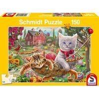 Schmidt Spiele Puzzle Kätzchen im Garten, 150 Puzzleteile