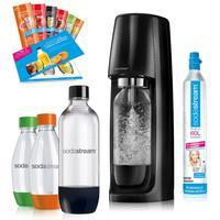 Sodastream Easy schwarz + 4 PET-Flaschen + Zylinder +