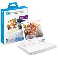 HP Social Media Snapshots selbstklebendes Fotopapier 25 Blatt, 10