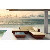 Baidani Rattan Garten Lounge Sunqueen Select braun meliert/creme