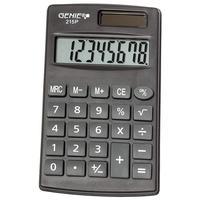 Genie 215 P Taschenrechner Tasche Einfacher Taschenrechner Schwarz