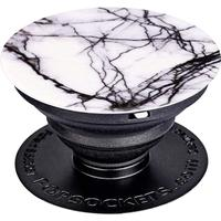 PopSockets Ausziehbarer Sockel und Griff für Smartphone/Tablet Weiß Marble