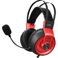 MARVO & Headset Kopfband Schwarz, Rot