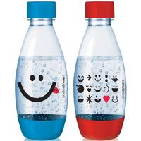 Sodastream PET-Flaschen 2 x 0,5 Liter blau/rot