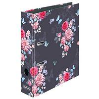 Herlitz Ladylike Flowers Ringmappe A4 Dunkelblau, Pink