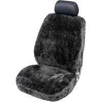 WALSER Autositzbezug Trish 1 teilig Lammfell, schwarz
