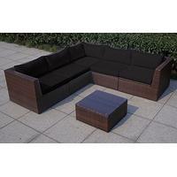 Baidani Rattan Garten Lounge Surprise Select integrierter Stauraum braun