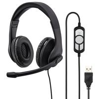 Hama HS-USB300 Kopfhörer Wollstrickmütze Schwarz