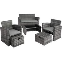 TecTake Modena Lounge-Set grau
