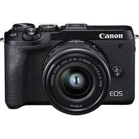 Canon EOS M6 Mark II schwarz + EF-M 15-45
