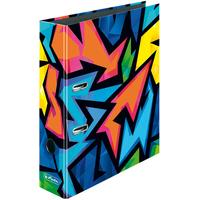 Herlitz Neon Art Ringmappe A4 8cm Motiv: 1 Stück