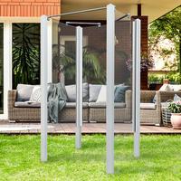 Breuer Garten-Dusche Exo, Set 3teilig weiß, Klarglas 95x95x200, Profile