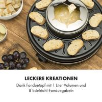 Klarstein Raclette und Fondue 1350W 1 Liter 38 cm