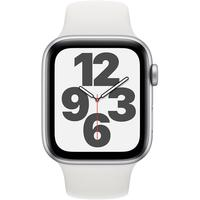 Apple Watch SE GPS 44 mm Aluminiumgehäuse silber, Sportarmband