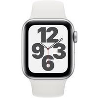 Apple Watch SE GPS 40 mm Aluminiumgehäuse silber, Sportarmband