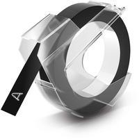 Dymo S0898130 weiß auf schwarz 0,9cm x 3m