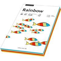 Rainbow Farbpapier A4 80 g/m2 100 Blatt mixed intensive