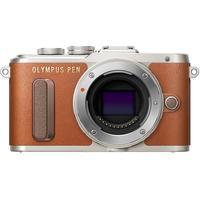 Olympus PEN E-PL8 Pancake Zoom Kit 14-42 mm braun