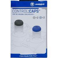 Snakebyte PS4 control:caps (2x schwarz + 2x blau)